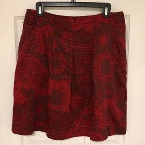 H&M Pleated Print Skirt w/ Pockets